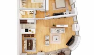 Апартамент 99м2 вЧерногории- Dukley Gardens